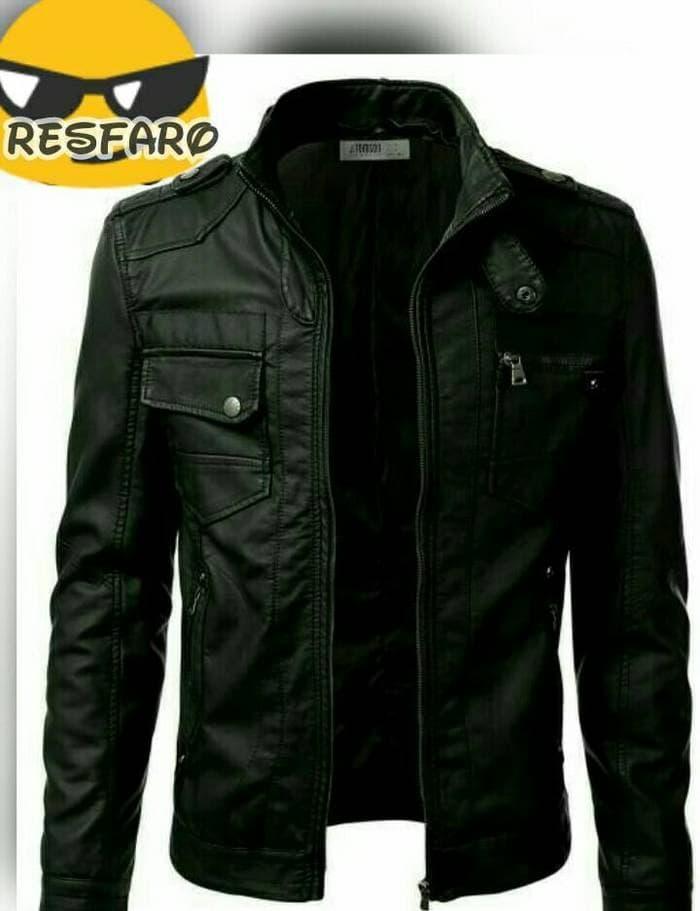jaket pria semi kulit/jaket harian/jaket motor