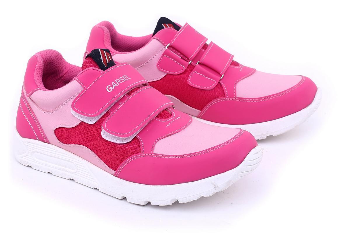 Garsel Sepatu Anak Perempuan - bahan Sintetis - sol Tpr murah dan berkualitas (Pink)