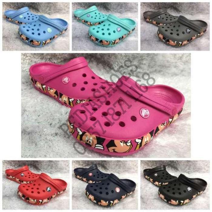 Sandal Anak Crocs Crocband Mickey Iii Original Grosir Cowok Dan Cewek - Pn1kkx