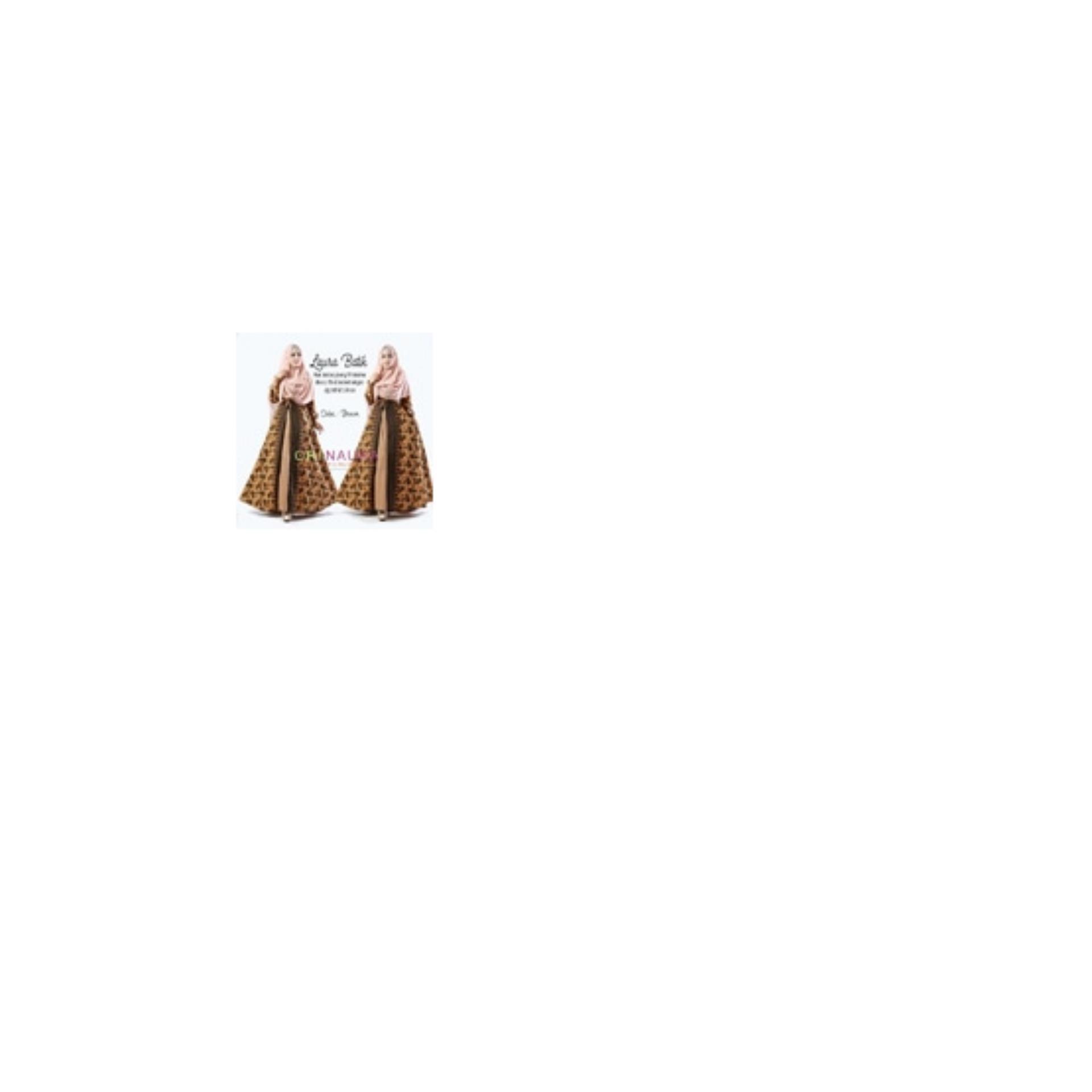 Gamis Laura Batik Dress Ori Naura Longdress Maxi Katun Prismina
