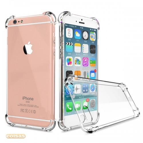Case Anti Shock / Anti Crack Elegant Softcase for For Apple Iphone 6 Plus / 6S Plus + Free Tempered Glass - white clear - Murah