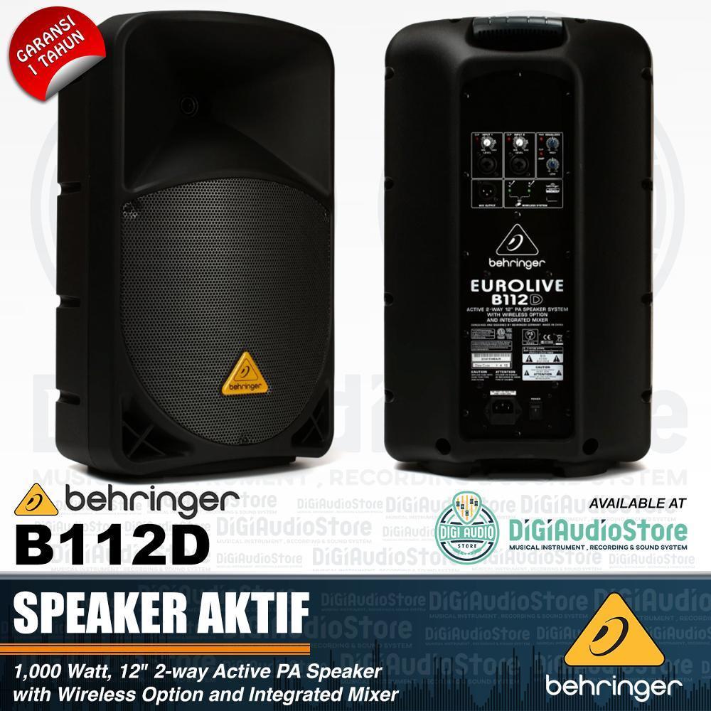 Behringer Eurolive B112D Speaker Aktif Sound System 12 inch 700 watt - Integrated Mixer - Wireless Microphone USB Option - B 112 D