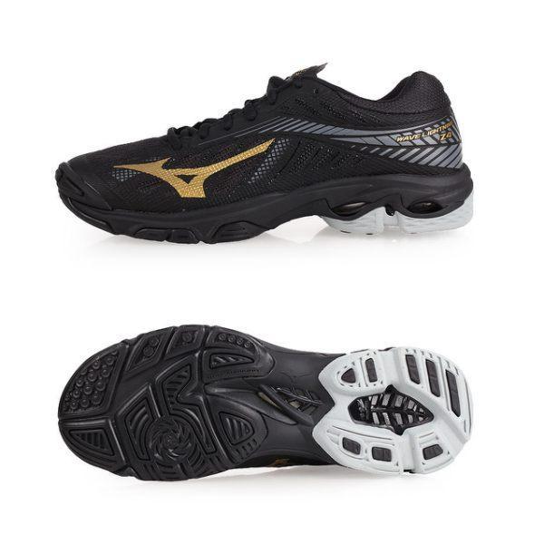 Sepatu voli badminton Mizuno V1GA180050 WAVE LIGHTNING Z4 - BLACK GOLD  10121C DARK SHADOW 1c79207bad