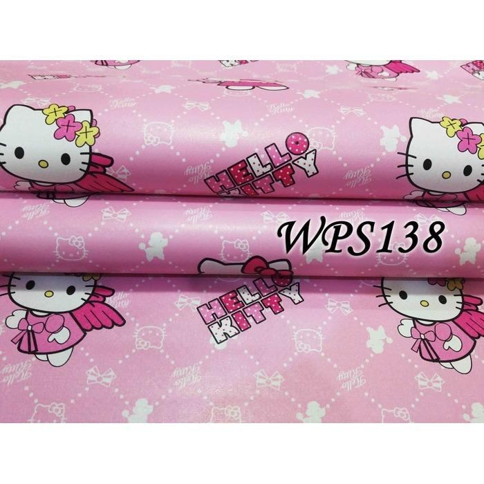Wallpaper Sticker Dinding / Gambar dinding model karakter Hello Kitty