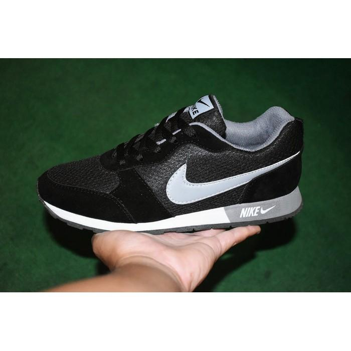 Promo Termurah Sepatu Sport Nike Waffle Trainer   Hitam Abu Abu   Kets Casual  Pria Gratis 9e0b175559