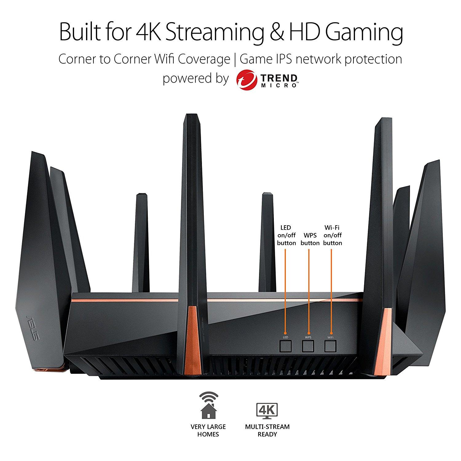 ... ASUS Wireless ROG Rapture GT-AC5300 Tri-Band AC5300 WiFi Gaming Router AiMesh ...