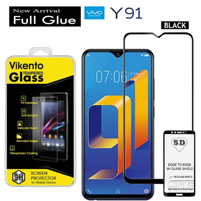 2018 New VIVO Y91 2018  Tempered glass 5D Full Glue For VIVO Y91 2018 Anti Gores Kaca Full Lem Full Coverage Screen Protector 9H Glass