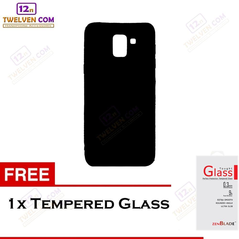 twelven case slim matte for samsung j6  – free tempered glass