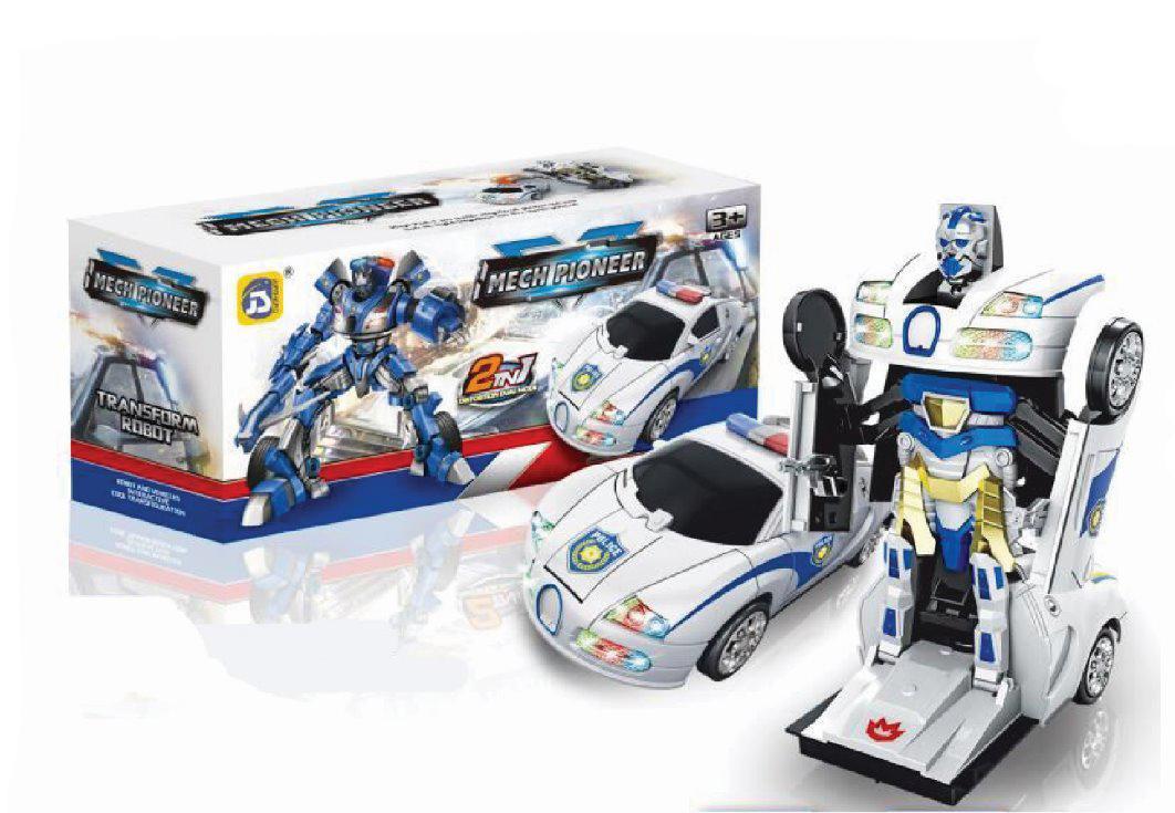 RKJ Mainan Anak Mobil Robot Baterai Transformer Dengan Lampu Dan Musik - 5 Model