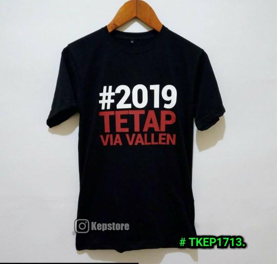 KAOS TSHIRT KAOS DISTRO BAJU COTTON COMBED TETAP VIA VALLEN
