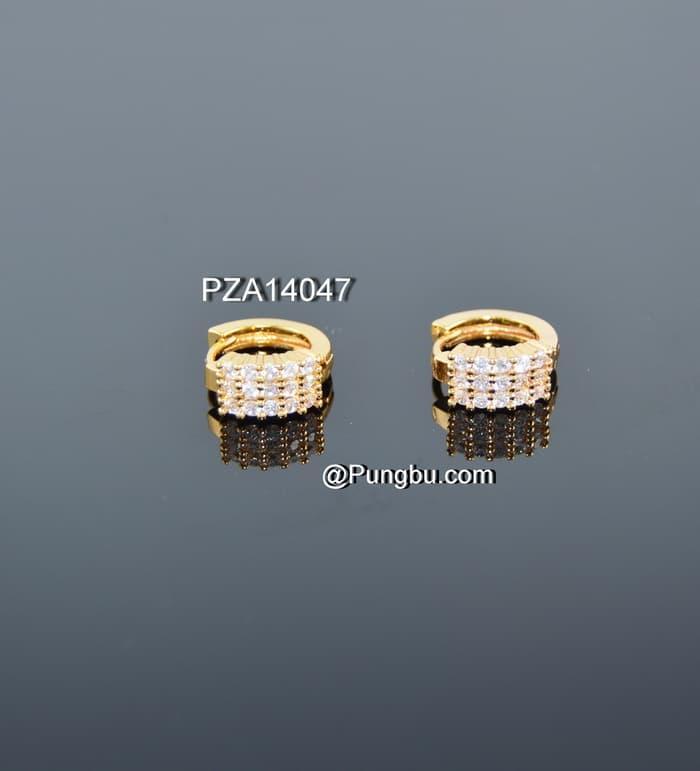 TERLARIS Giwang emas jepit tindik PZA14047 - dxUZKgft