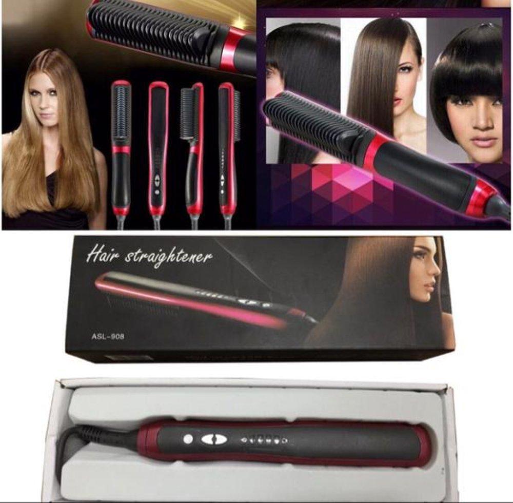 Fast Hair Straightener ASL 908 / Sisir Catok Pelurus Rambut Model Exlusive Cepat .