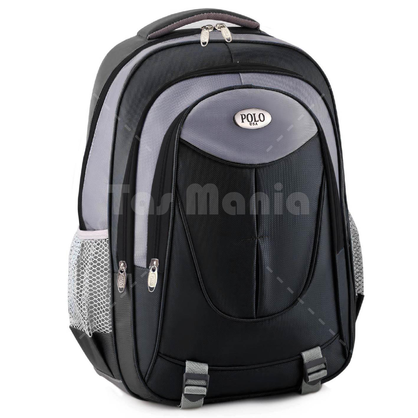 Detail Gambar Tas Ransel Polo USA Jackspade Dailypack Tas Laptop Casual Backpack - Black + Raincover