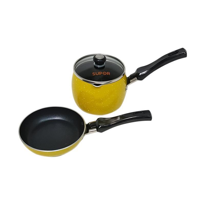 Detail Gambar Mini Cookware Set - Mini Fry Pan Mini dan Mini Sauce Pan Bobo Supor Terbaru