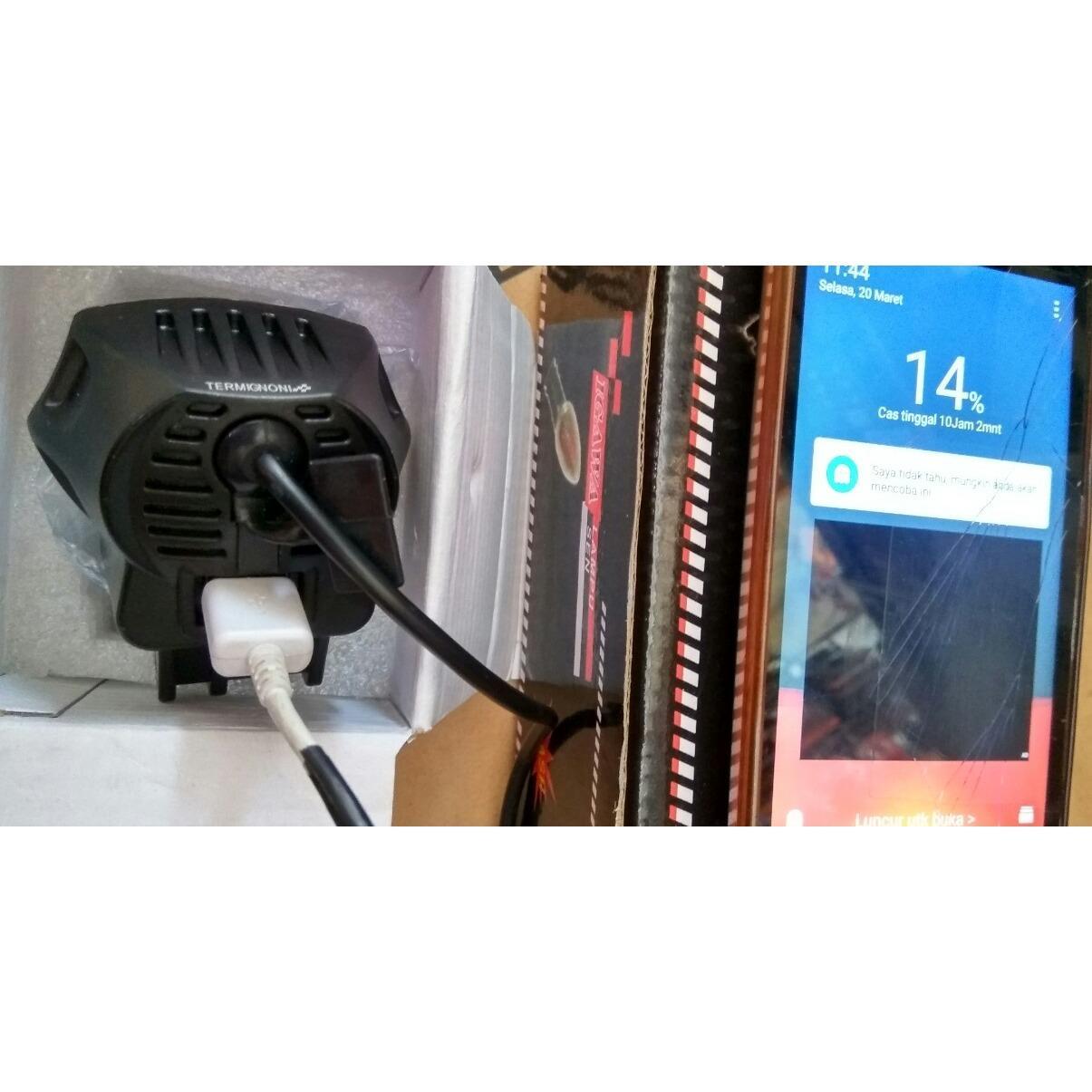 ... Lampu Tembak 2 Mata PLus USB - 5