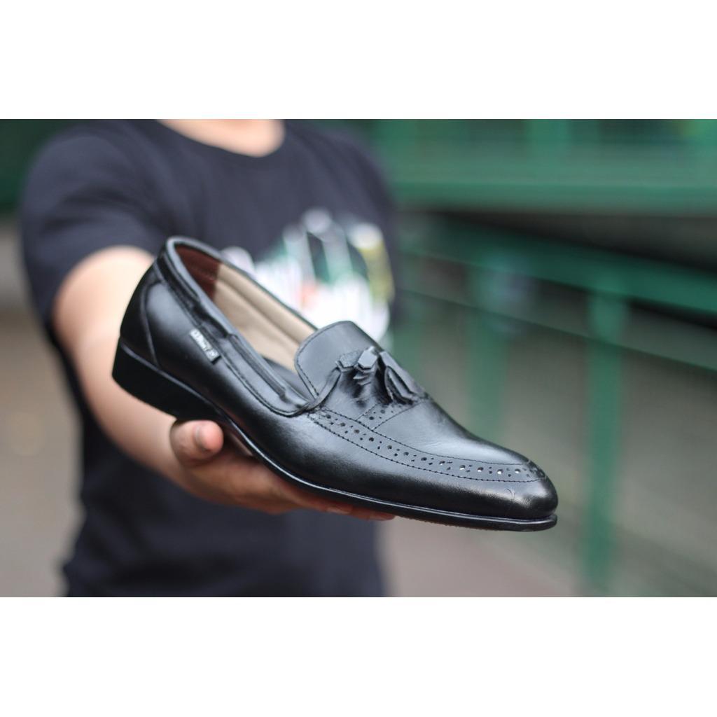 Fitur Mrj Sepatu Formal Pantofel Putih Kulit Cevany Pantopel Veil Pria