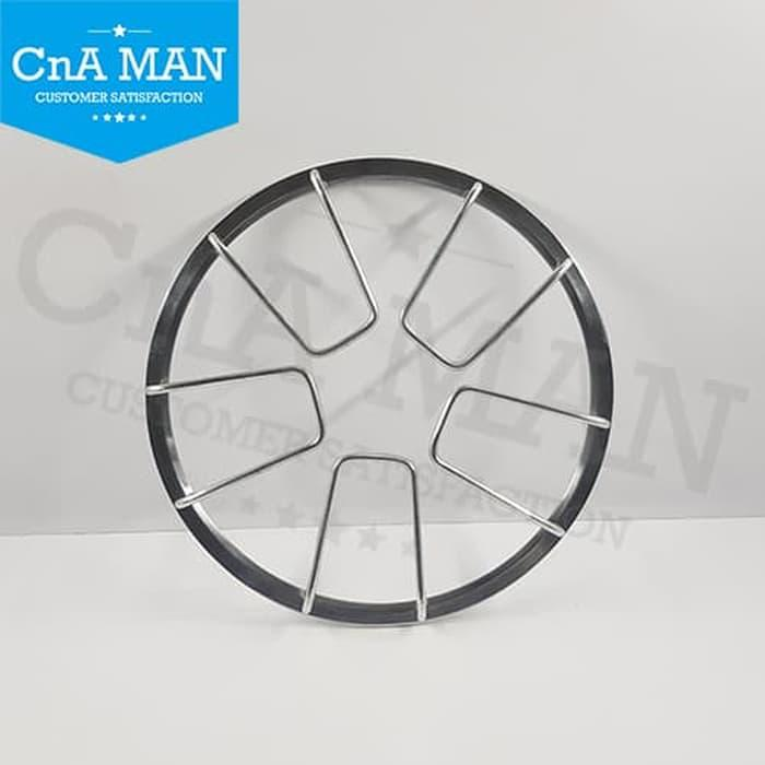 GRILL TUTUP RING SUBWOOFER 12 INCH ALUMINIUM STAINLESS JARING SPIDER - ready