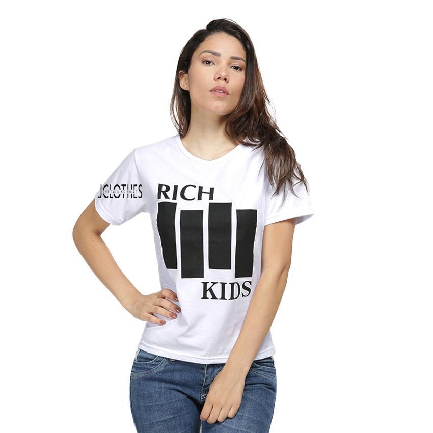 JCLOTHES Kaos Cewe / Tumblr Tee / Kaos Wanita Rich Kids