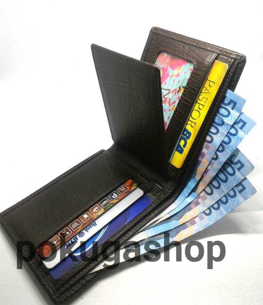 ... dompet kulit pria asli coklat serat kayu unik bagus asli garut - 3 ...