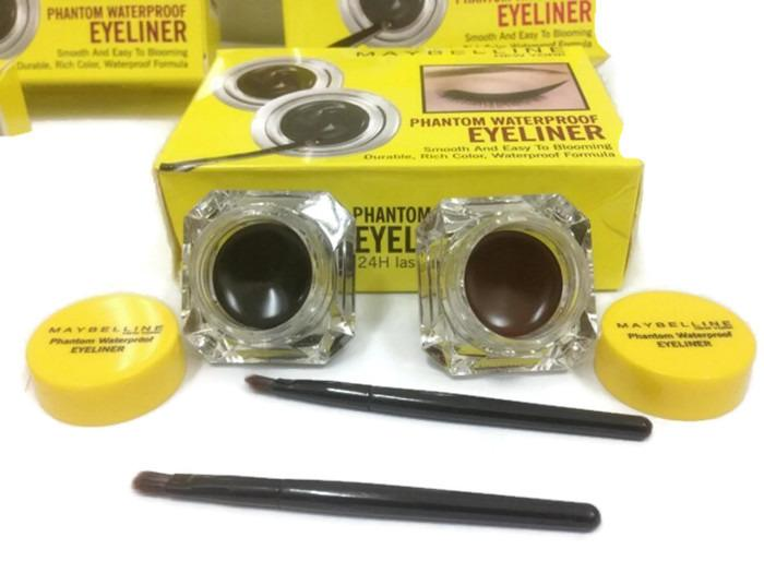 Mesh Eyeliner Gel 2in1 Mybln Black & Brown - Eyeliner Mybln Lasting Drama 2 in 1