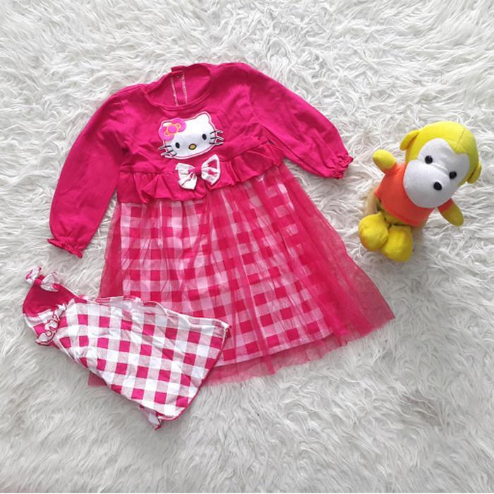 Baju Muslim Gamis Anak Bayi Perempuan motif kartun Tutu - baju gamis anak perempuan terbaru /