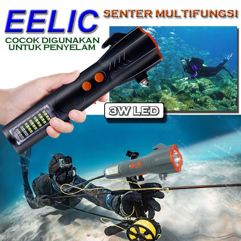 EELIC LAS-111 LAMPU SENTER ALARM MAGNET SENTER DIVING SENTER PENYELAM LAMPU SENTER KERJA SENTER
