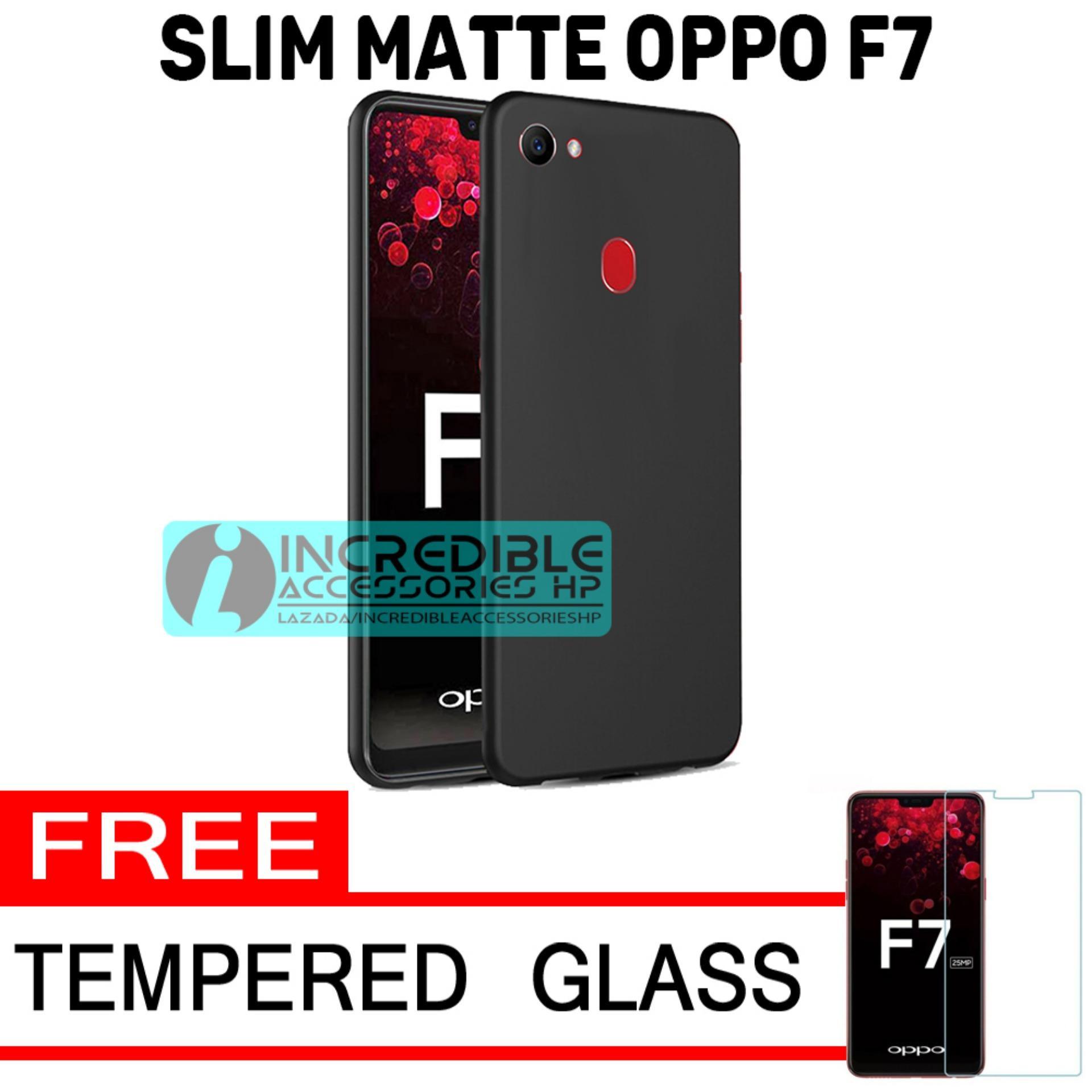 Case Slim Black Matte Baby Skin Softcase Premium Matte for Oppo F7 - Black + Free