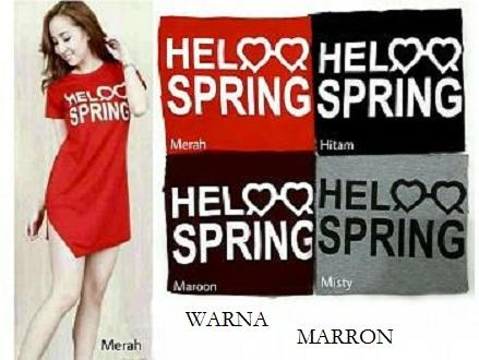 Hoziro - Baju / Atasan / Blouse / Dress Midi / Dress Mini / Long Blouse / Dress Wanita Hello Spring Bahan Spandek
