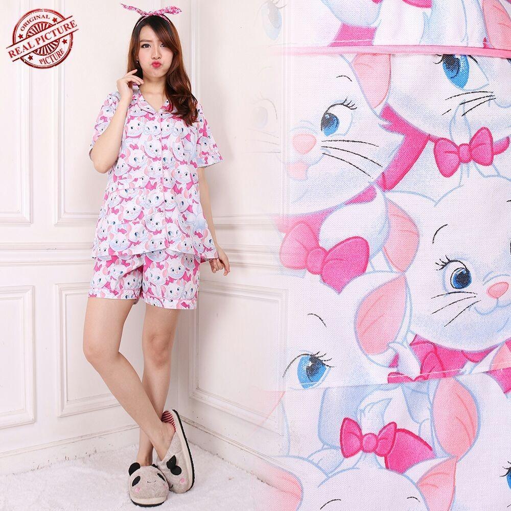Cj collection Stelan baju tidur jumbo piyama atasan blouse dan celana pendek wanita jumbo hotpant short