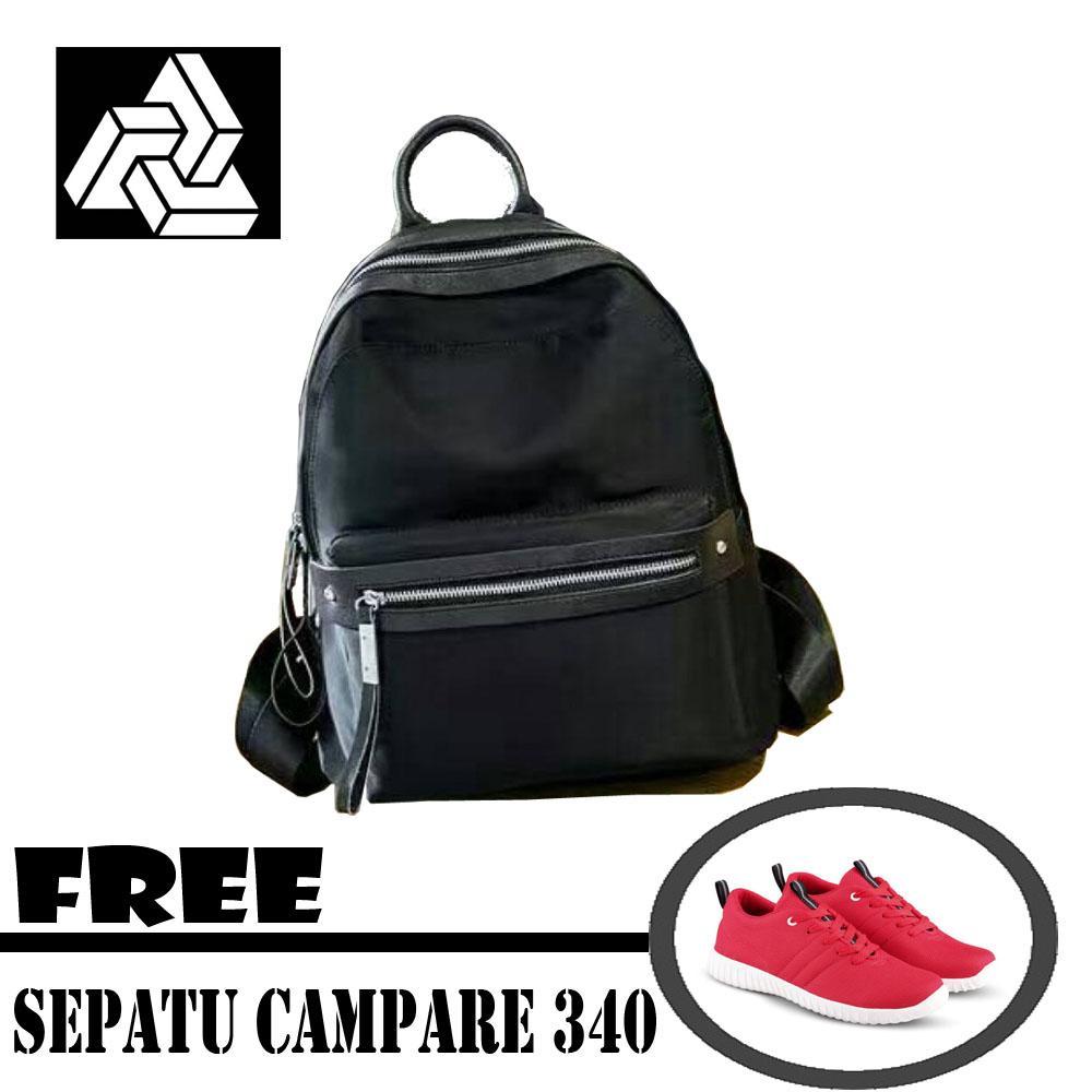 Milenial Tas Ransel Backpack ABG Remaja Wanita Import Korea + Free Sepatu Campare 340