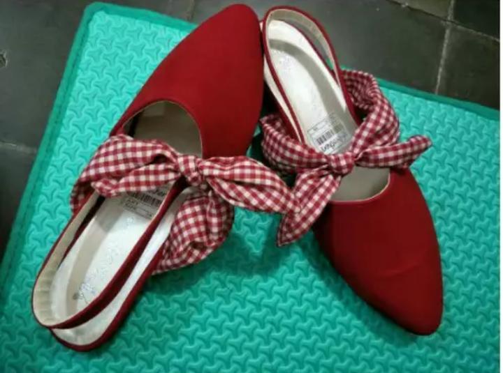 Sepatu Flat Shoes Pita OL089 - Grosir Sepatu Murah Sepatu Flat Shoes Wanita Sepatu Fantofel Sepatu