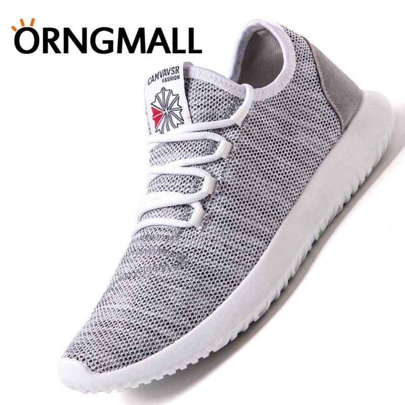 ORNGMALL Ultralight Laki-laki Lari Sepatu Baru Modis Kasual Sepatu Jogging Sneakers Musim Panas Dapat