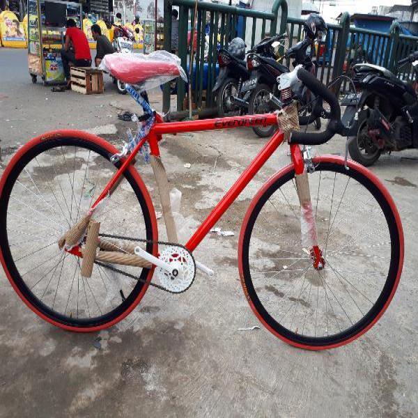 Sepeda Fixie FRAME  alloy Evergreen Doltrap