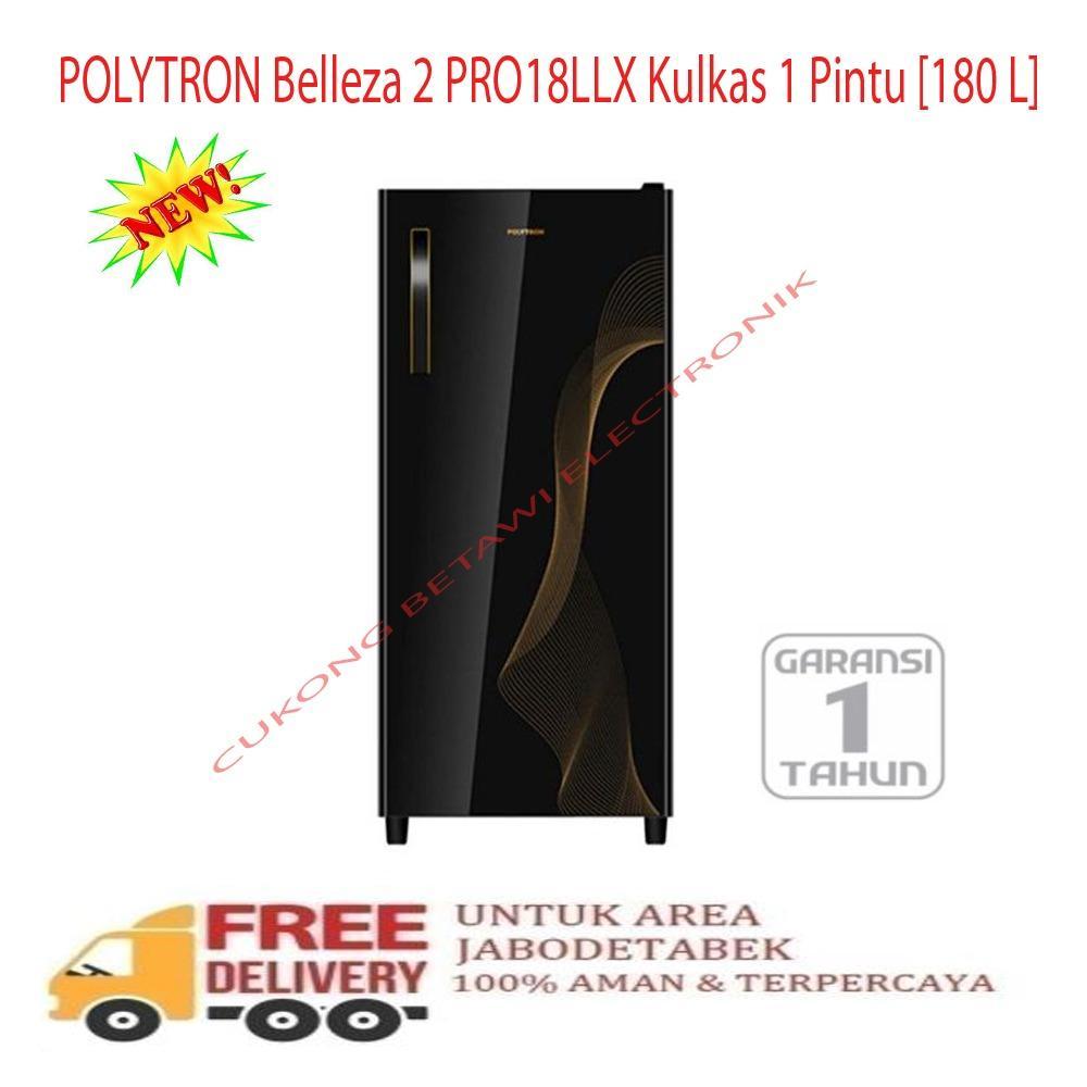 POLYTRON Belleza 2 PRO18LLX Kulkas 1 Pintu 180 L-KHUSUS JABODETABEK
