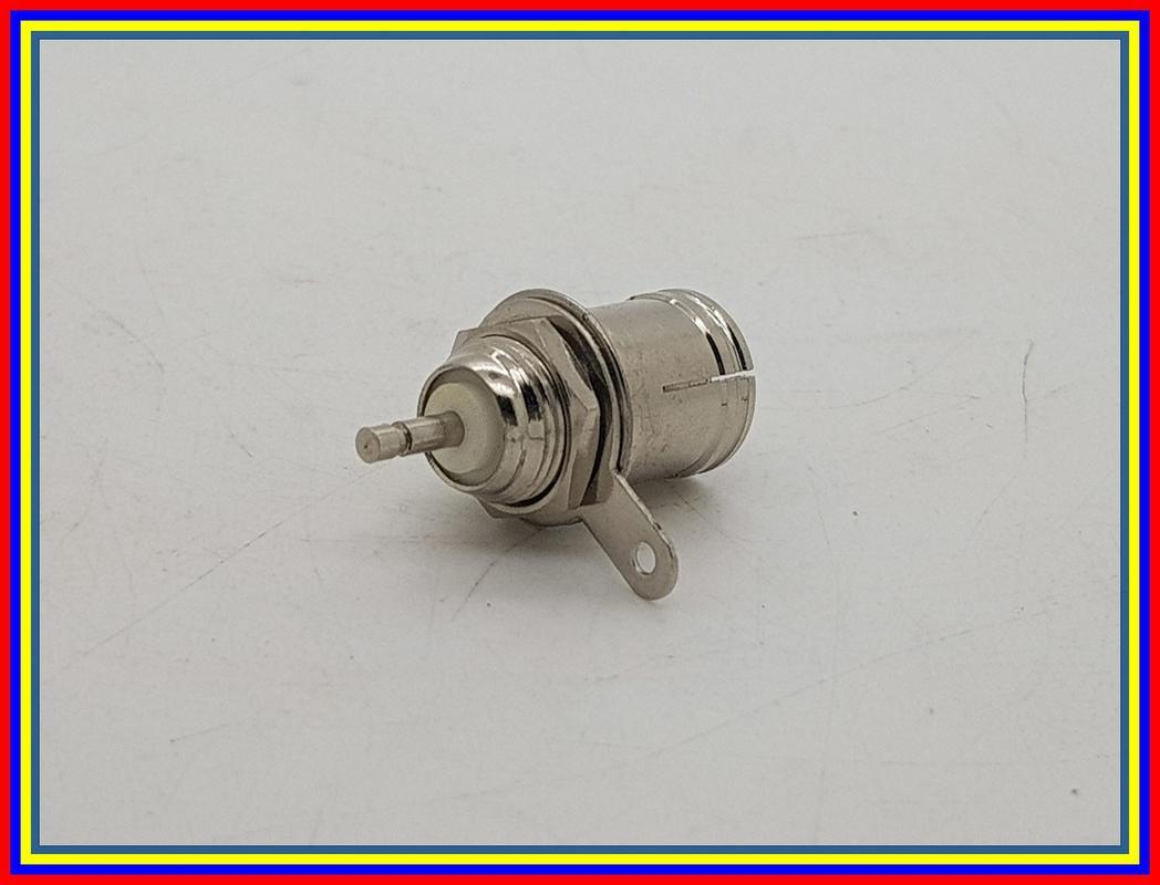 ... Connector Antena Tv Female Body Chassis Panel Mount Jack Socket - 4