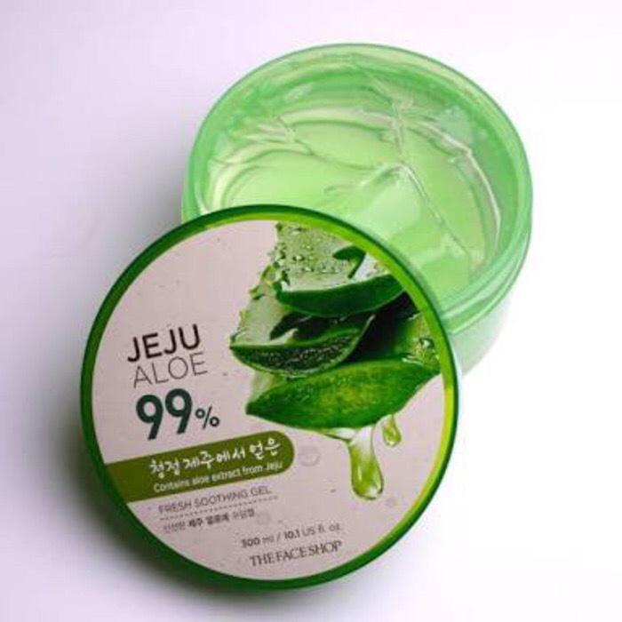 The Face Shop Jeju Aloe Vera 99% Fresh Soothing Gel Original Korea