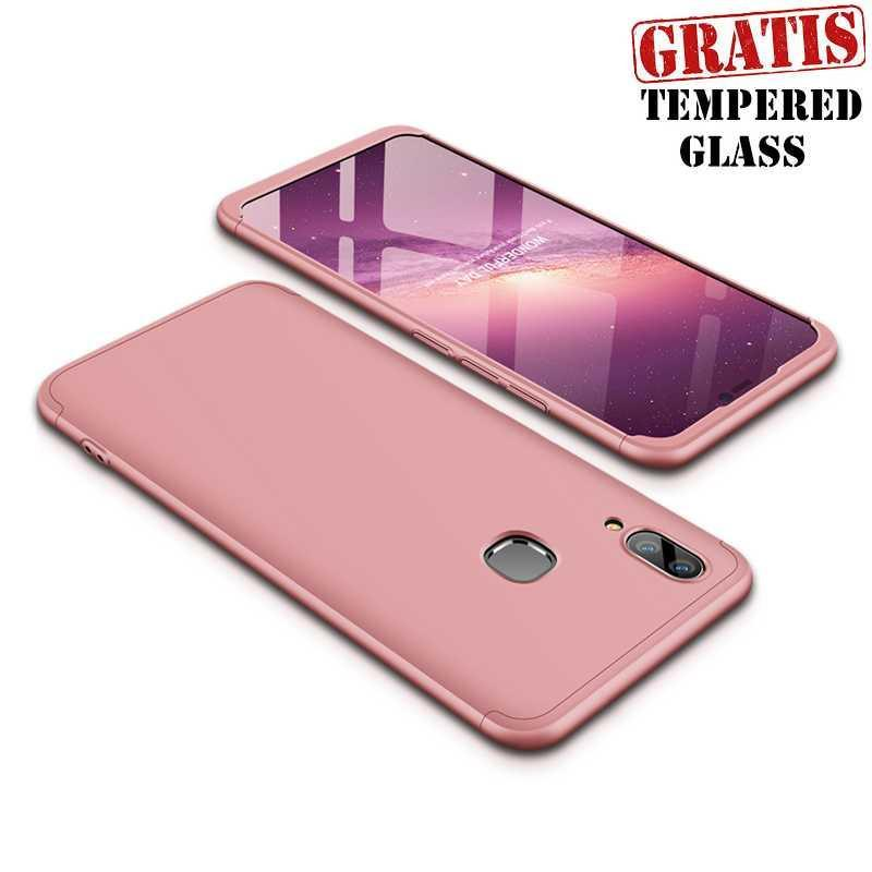 Ipaky 360 For Vivo V9 Full Cover Armor Baby Skin Premium + Tempered Glass _Chinoo_narasaki