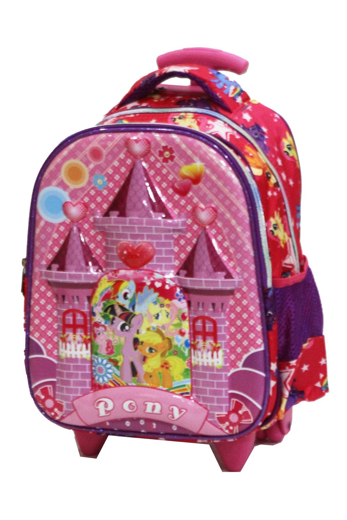 ... Onlan My Little Pony Istana 6D Timbul Tas Trolley Anak TK & Play Group Import -
