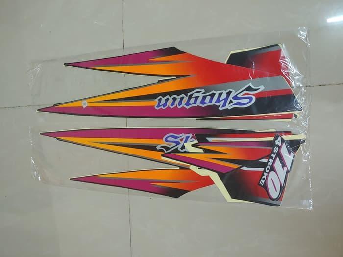 Striping lis & Stiker Body & Stiker Motor Shogun 1997 Kebo Hitam Pink