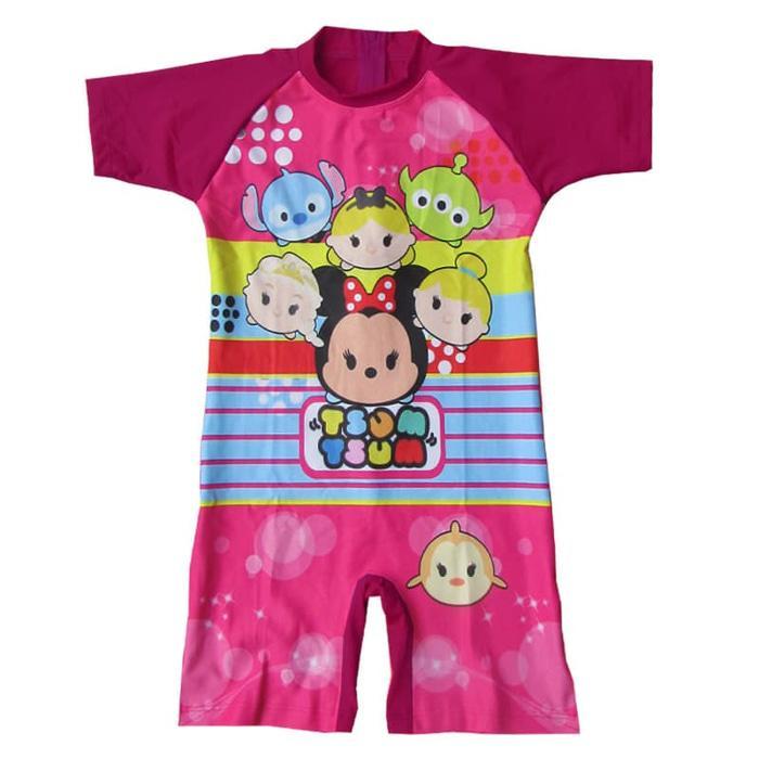 Baju Renang Anak Perempuan Karakter Tsum-Tsum 3-7 Tahun