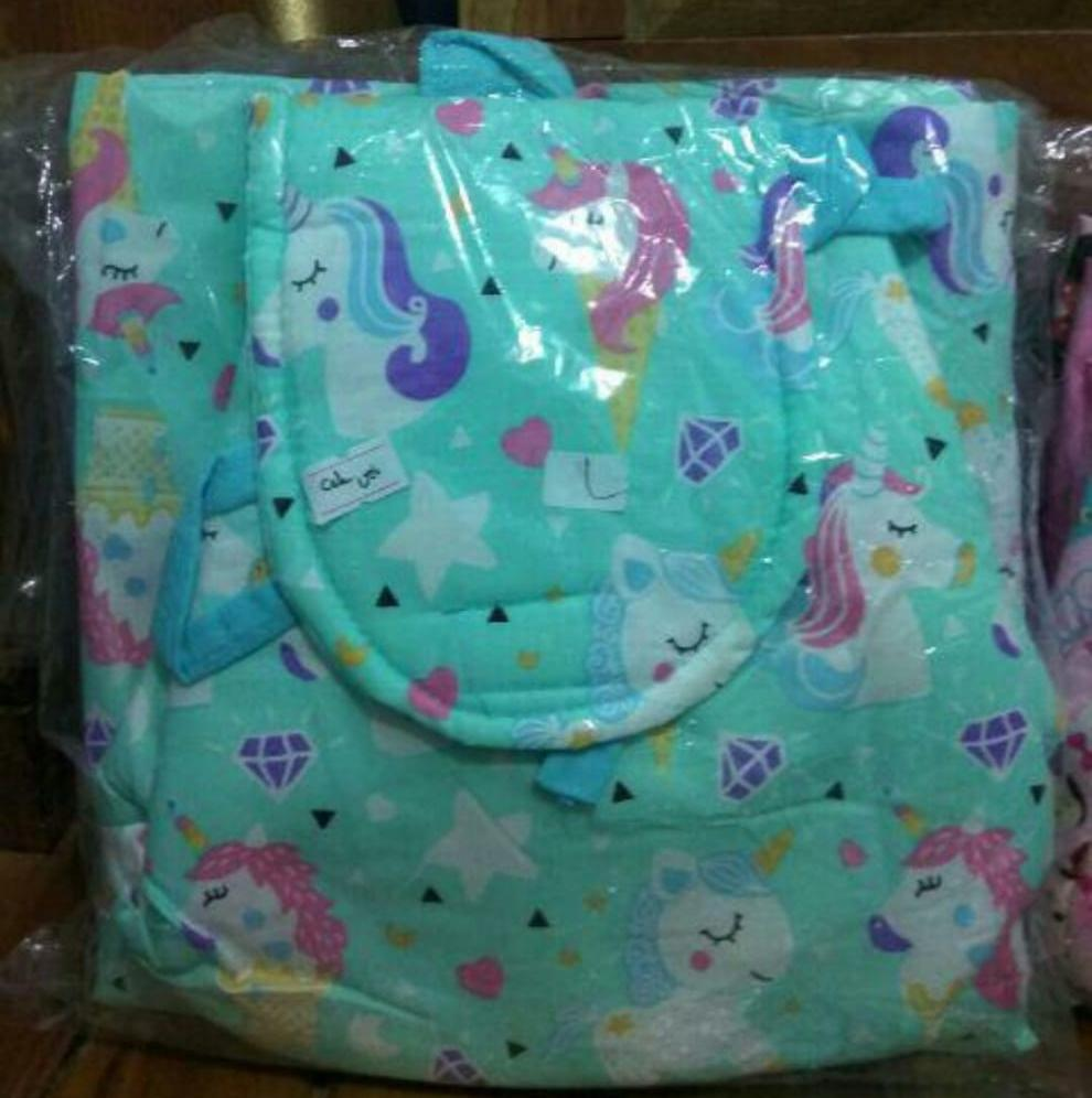 Detail Gambar mukena anak unicorn tas ransel PROMO Terbaru