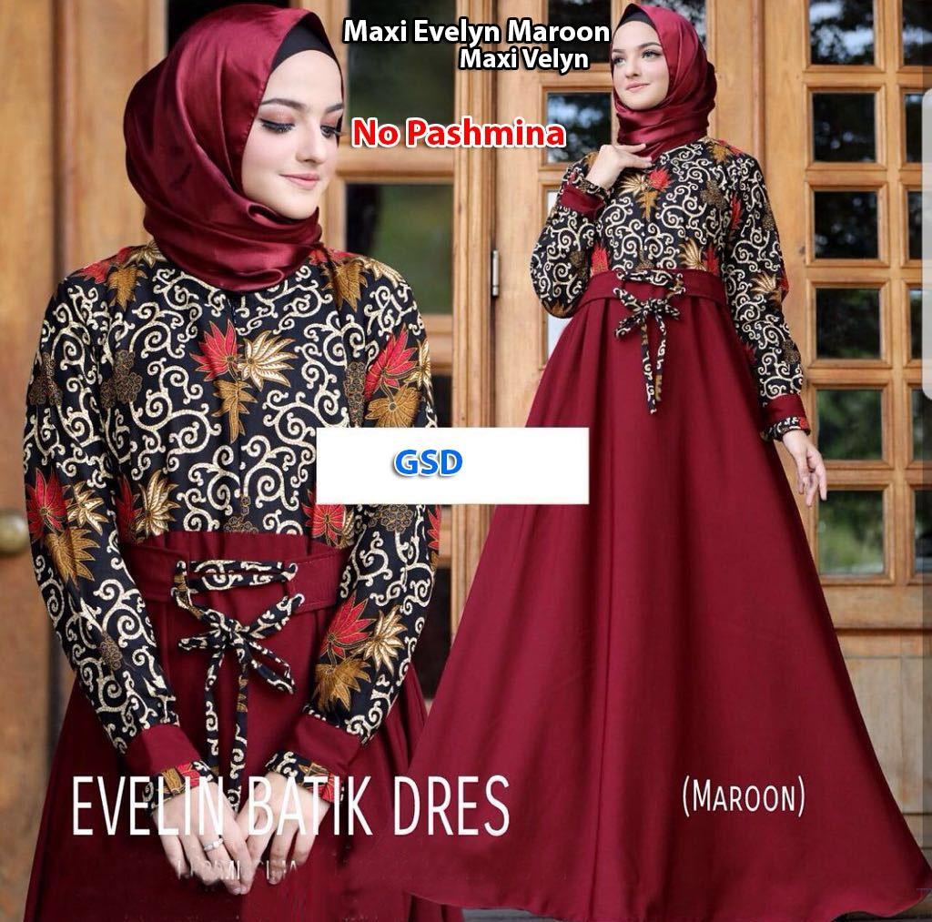 Cek Harga Baru Gsd Baju Muslim Kurung Wanita Dress Longdress Syana Maroon Gamis
