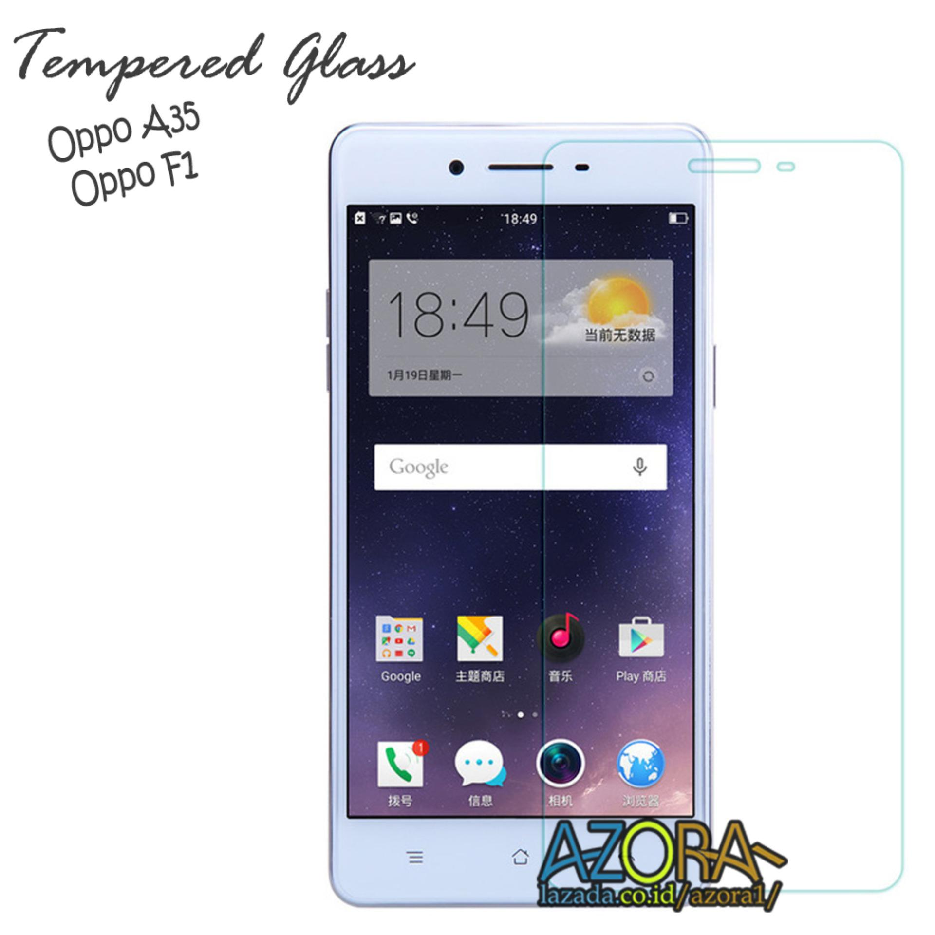 Tempered Glass Oppo F1 / A35 Screen Protector Pelindung Layar Kaca Anti Gores - Bening