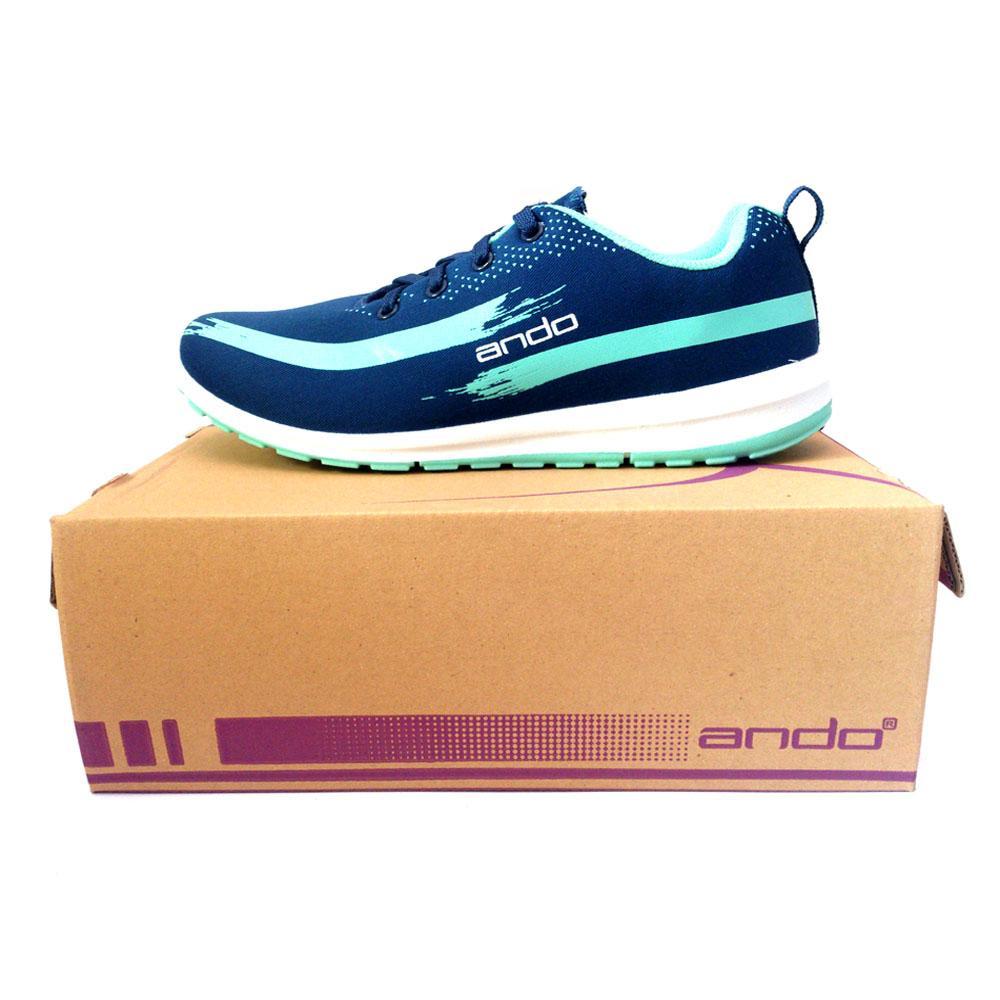 ... Ando Lindsey Sepatu Olahraga Wanita Sepatu Lari Warna NavyTosca - 3
