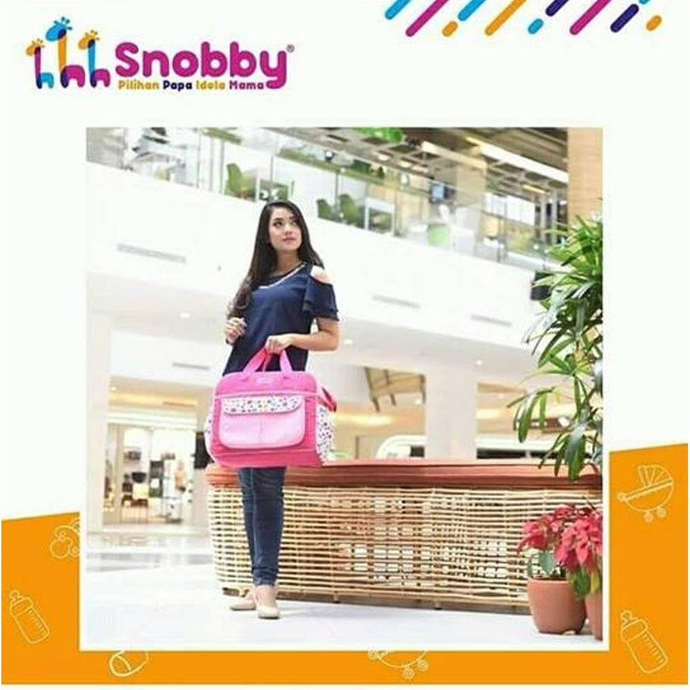 Snobby Tas bayi besar saku motif happy bubble (TPT 2271)