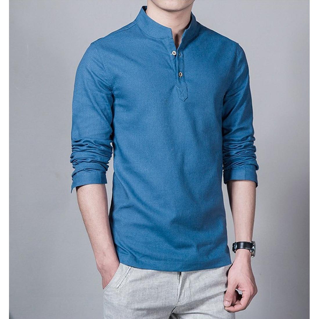 Baju Koko Shaquille Bahan Cotton Warna Biru Adem Saat Dipakai, Tersedia Semua Logo Club, Kemeja Koko Cocok Untuk Sehari-hari
