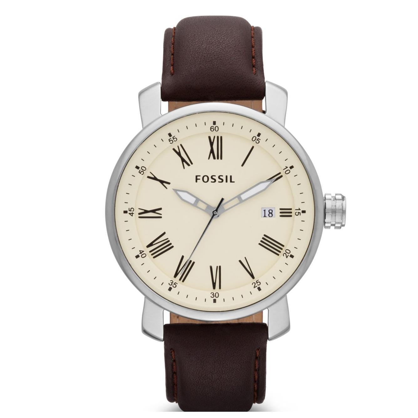 Beli Fossil Rhett Three Hand Leather Watch Dark Brown Bq 1016 Di Dki Jakarta