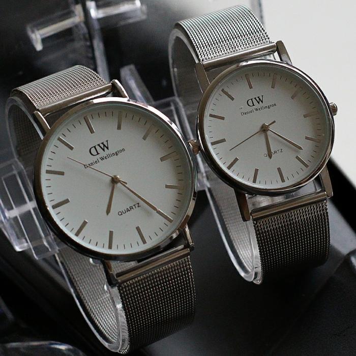 jam tangan couple Dw semi ori / jtr 1170