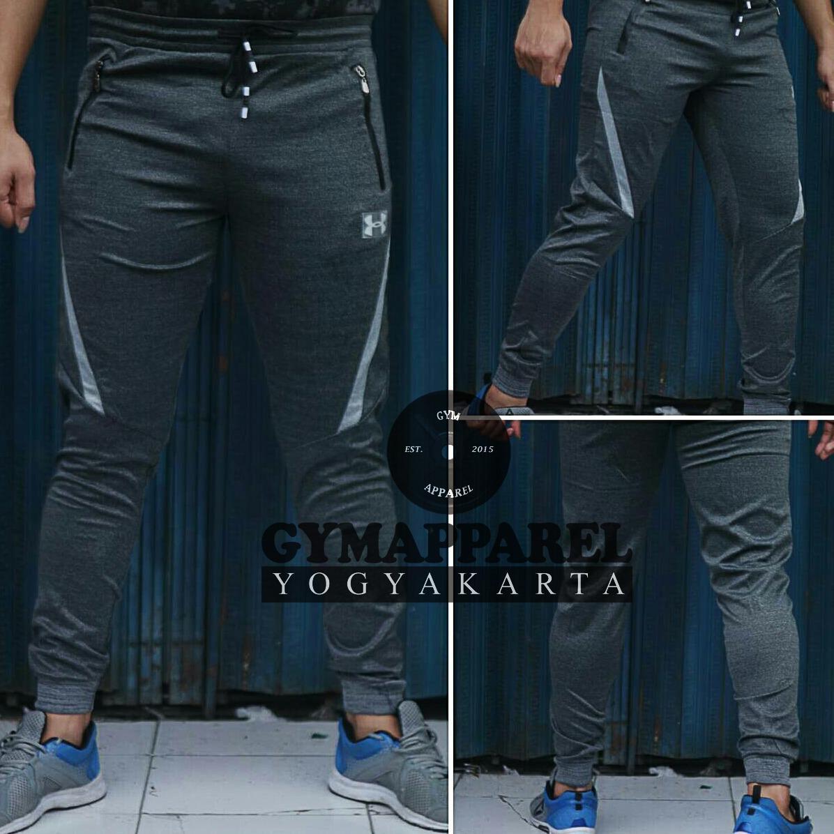 Celana panjang olahraga jogger pants sweatpants under armour misty MRT0118 dri fit gym run sepeda