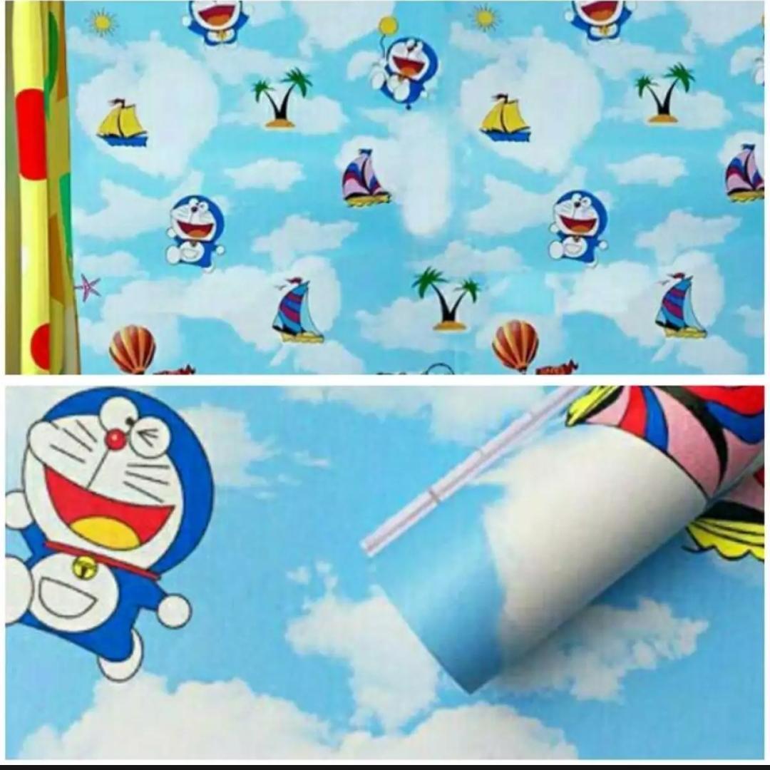 Kelebihan Wallpaper Sticker Karakter Doraemon Awan 45cm X 10m Cdr Stiker Dinding Motif Dan Premium Quality Size